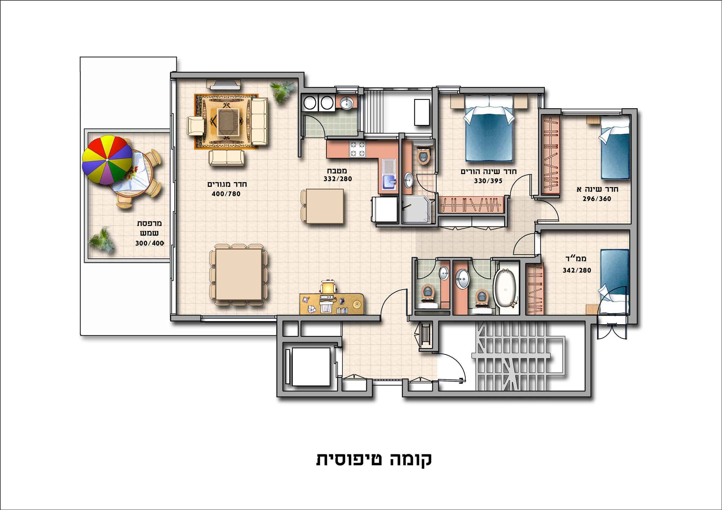 תוכנית קומה טיפוסית